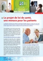 Couverture Lettre d'information des patients 10